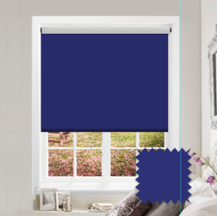 Blue Roller Blind - Bahamas Electric Blue